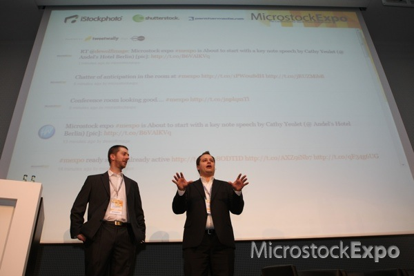Lee Torrens and Amos Struck opening the Microstock Expo 2011 Conference
