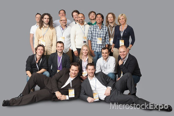 Group shot of some of the speakers of Microstock Expo 2011