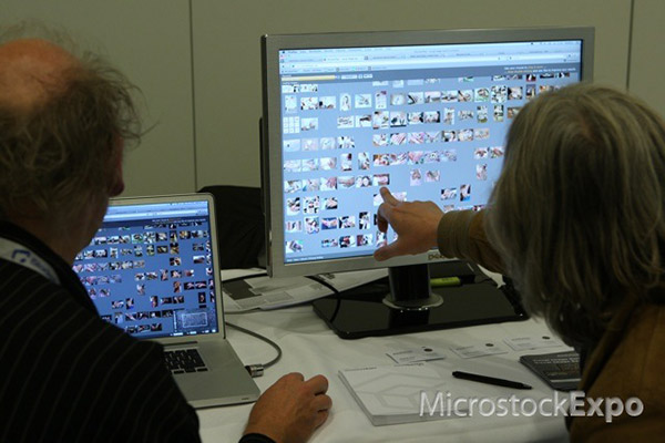 Demonstration of the Pixolution search technology at Microstock Expo