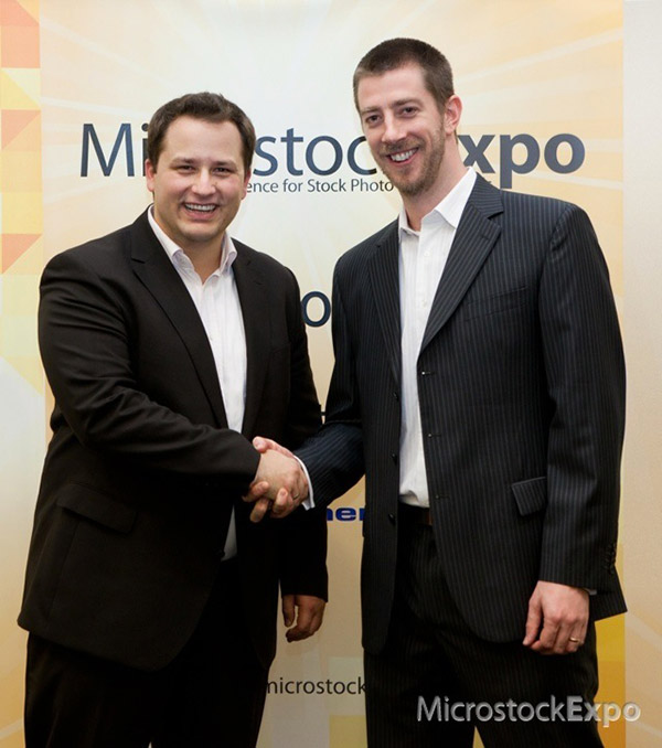 Lee Torrens and Amos Struck at the conclusion of Microstock Expo 2011