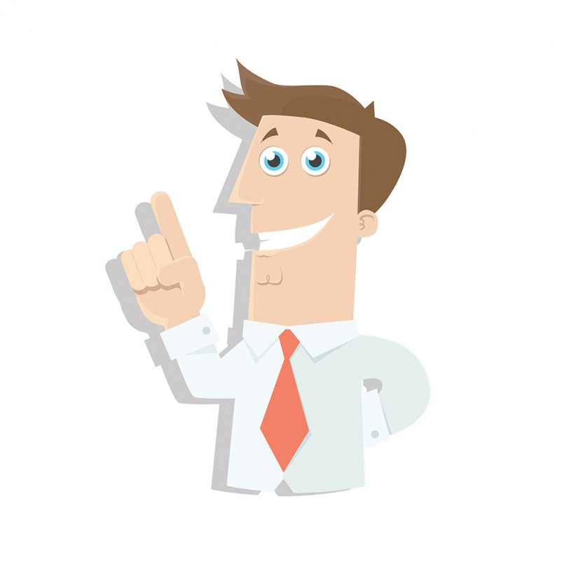 Vector Businessman with Great Idea