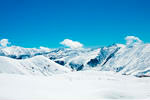 Stock photo snowy mountains