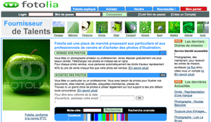 Fotolia website - in French - in 2005
