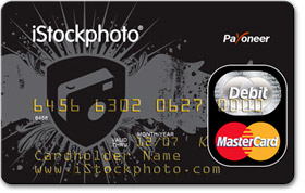 Payoneer iStockphoto credit card example