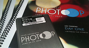 PhotoOp 2010 Shoot briefs and brand hard drive