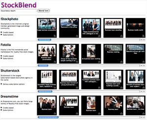 StockBlend search result screenshot