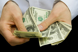 Cash Payout - stock photo