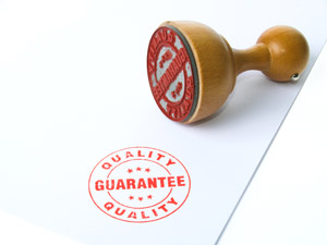 Guarantee Stamp stock photo