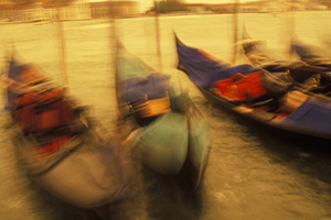 Venice boats with motion blur, Jack Hollingsworth
