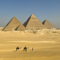 Pyramids of Giza stock photo, Holger Mette
