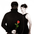 Couple with a Rose - Lise Gagne